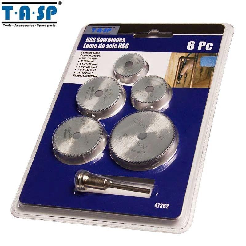 Free Shipping 6pc Hss Circular Saw Disc Set blade kit Fits