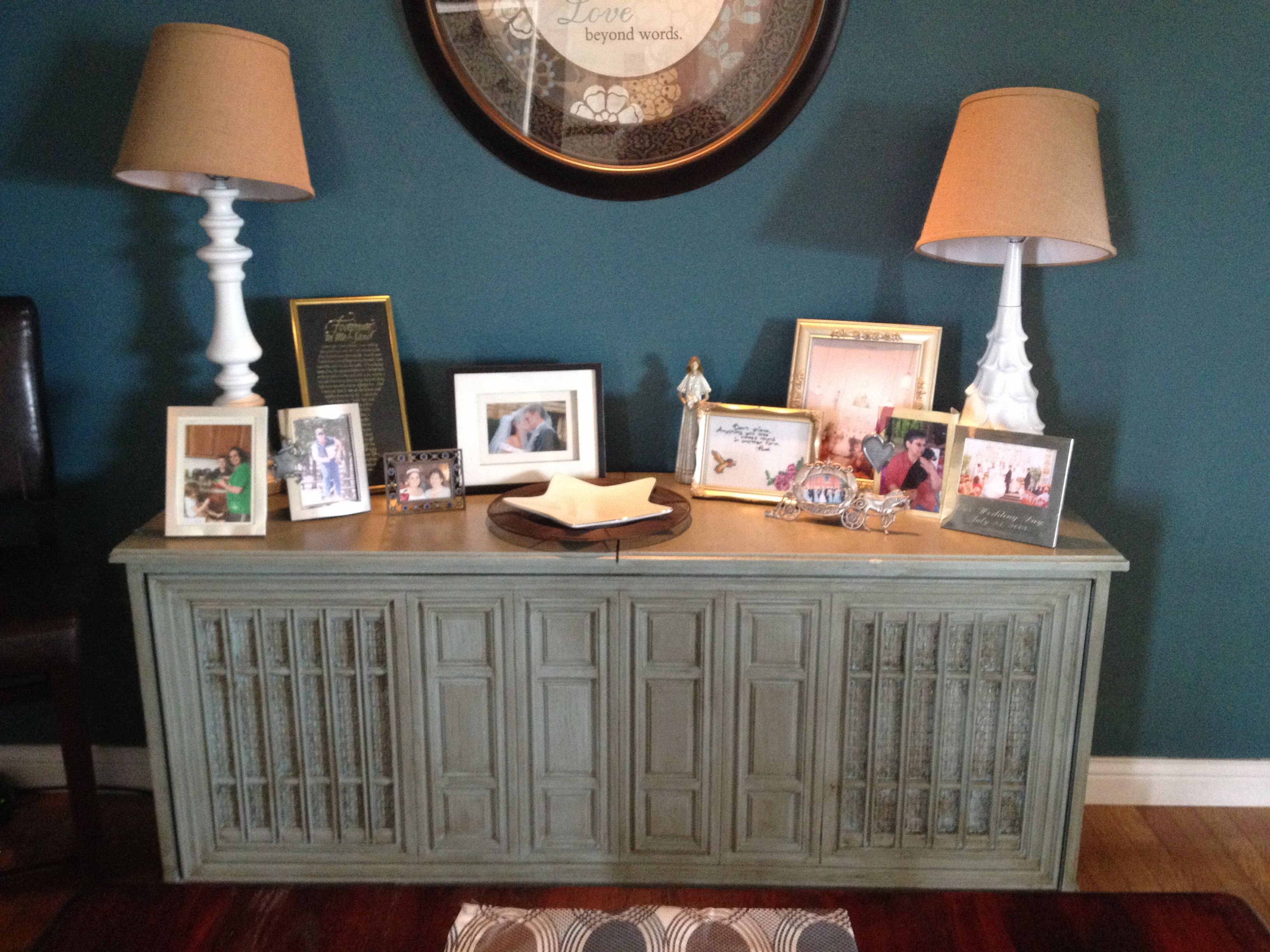 Console Stereo Repurposed To Buffet