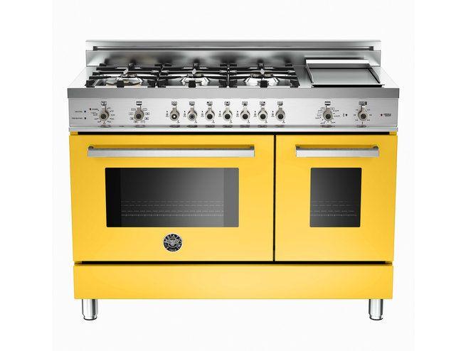Luxury Kitchen Ranges, Ovens And Cooktops: Bertazzoni Professional Series  In Italian Yellow | Revuu
