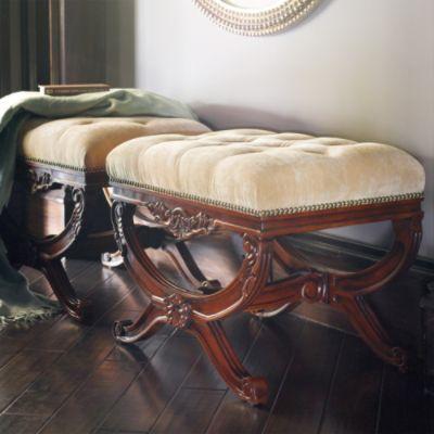 Peachy Lourdes Tufted Bench Our Old World Style Lourdes Dailytribune Chair Design For Home Dailytribuneorg