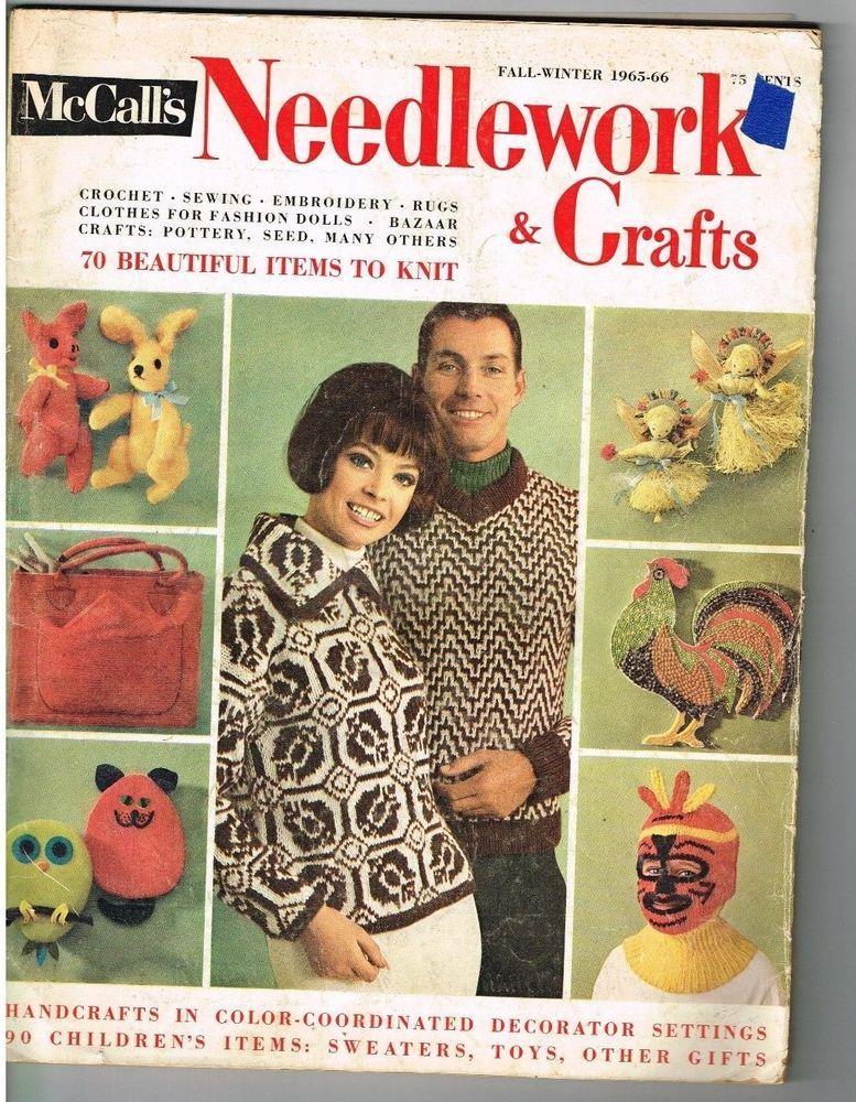Crochet Knitting Pattern Magazine Lot Mccalls Needlework Crafts 8