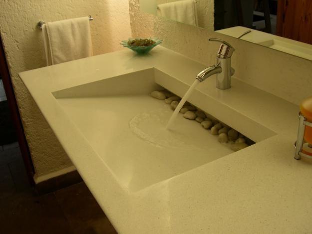 Lavabos proyectos y desarrollos ba o pinterest - Lavamanos sobre encimera ...
