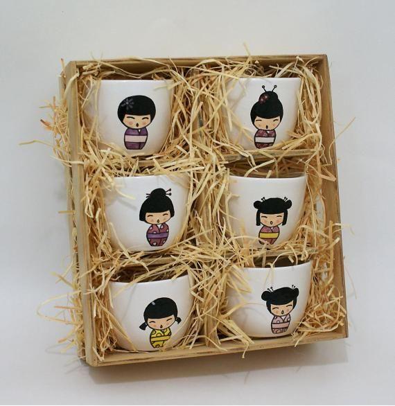 Conjunto Potinhos para Chá/Saquê Japones - R$40.00