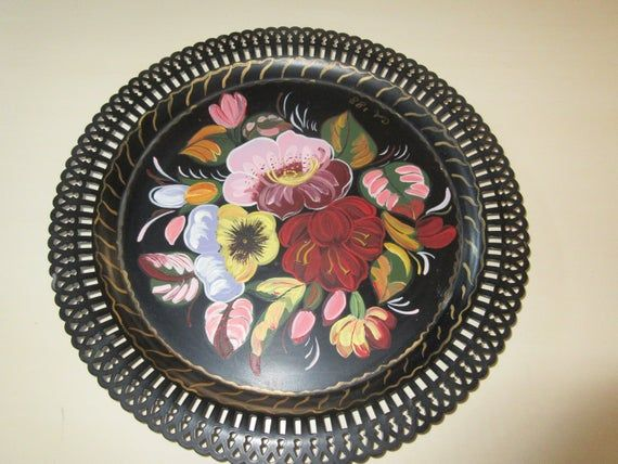 Tole Painted Tray #tolepainting