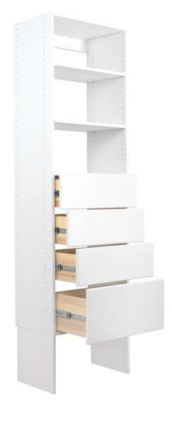 Vista 4 Drawer Shelf Tower Closet Organizer With Drawers Closet Bedroom Modular Closets
