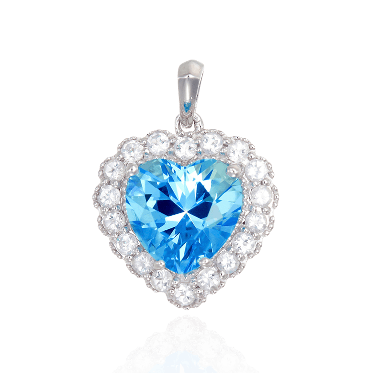 Luscious Passion Topaz pendant is a gorgeous sparkling heart surrounded by a Natural White Topaz shimmering halo. High polished setting and bail complete the Passion Topaz look which is rich, refreshingly brilliant and completely fun to wear. #KarinaAriana #jewelry #pendant #necklace #heart #Vintage #PassionTopaz #WhiteTopaz #sterlingsilver #Christmaspresent