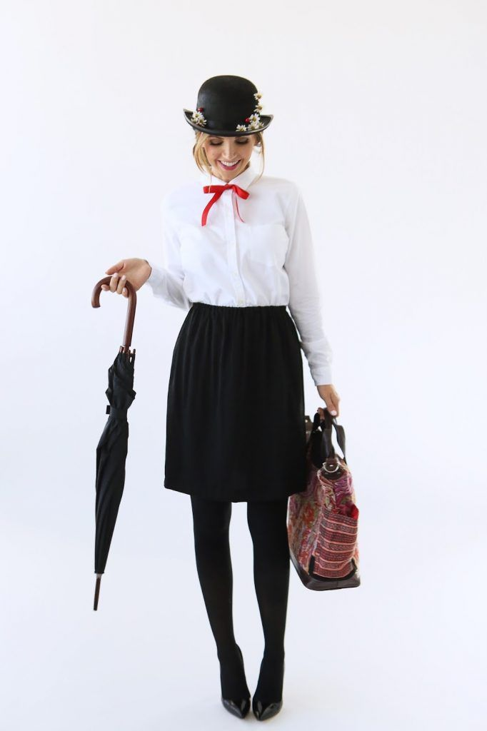 Merricku0027s Art // Style + Sewing for the Everyday Girl  MODERN GIRLu0027S HALLOWEEN WEEK MARY POPPINS COSTUME  sc 1 st  Pinterest & MODERN GIRLu0027S HALLOWEEN WEEK: MARY POPPINS COSTUME | Halloween ...