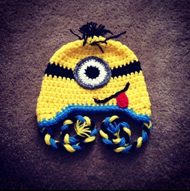 Minion crochet hat | ideas i would like to try. | Pinterest | Gorro ...