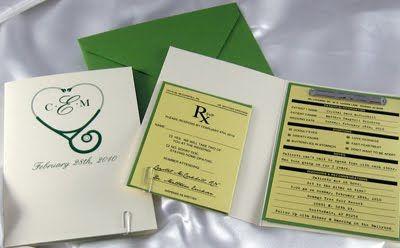 Pharmacy Wedding Invitations Haha C D S Wedding Ideas