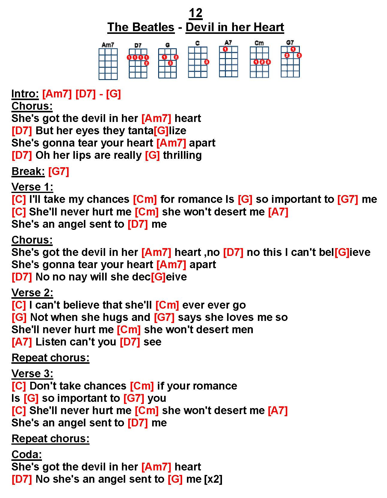Pin By Fay Ternent On Uke Beatles Song Lyrics And Chords Music