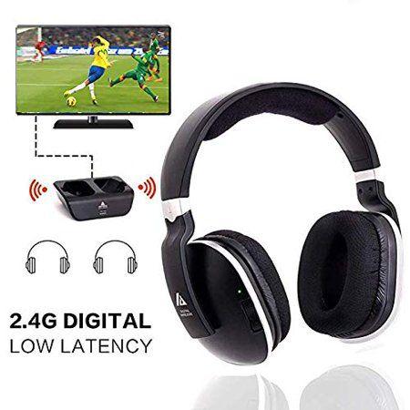 Wireless TV Headphones Over Ear Headsets Digital Stereo