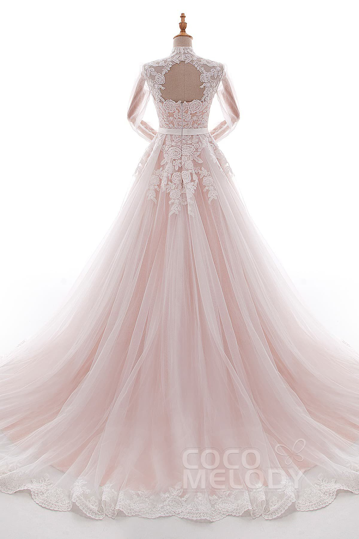 Aline court train tulle and lace wedding dress ld robes de