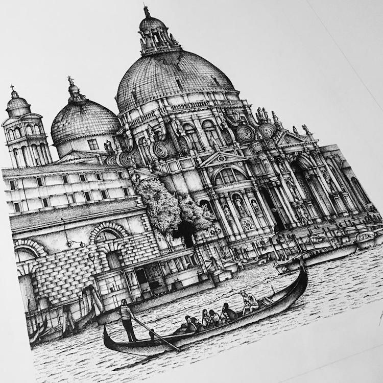Expressive Ink Sketches Capture The Intricate Details Of Italian