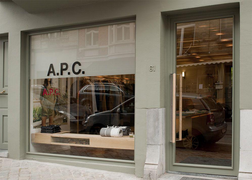 A.P.C. Darwin street store, Brussels.
