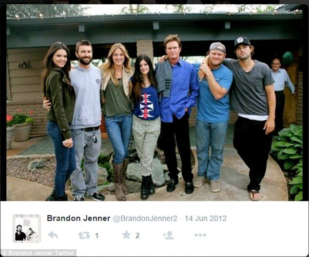 Family: Cassandra's half-brother Brandon Jenner posted a picture with his father and brothers and sisters
