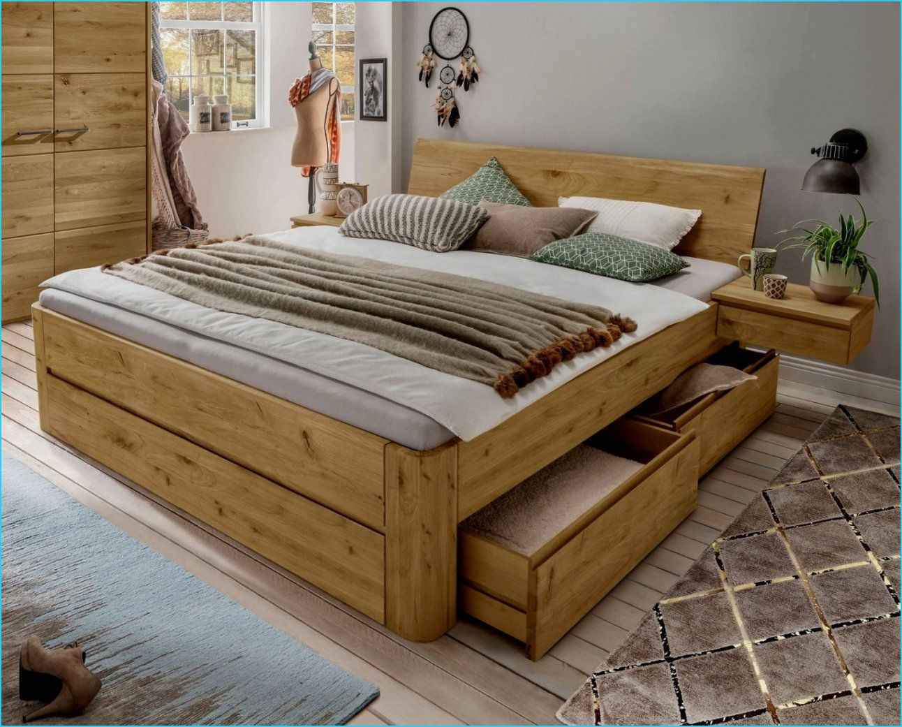 20 Prodigous Bett Holz 200x200 In 2020 Bed Frame With Drawers Home Decor Bed