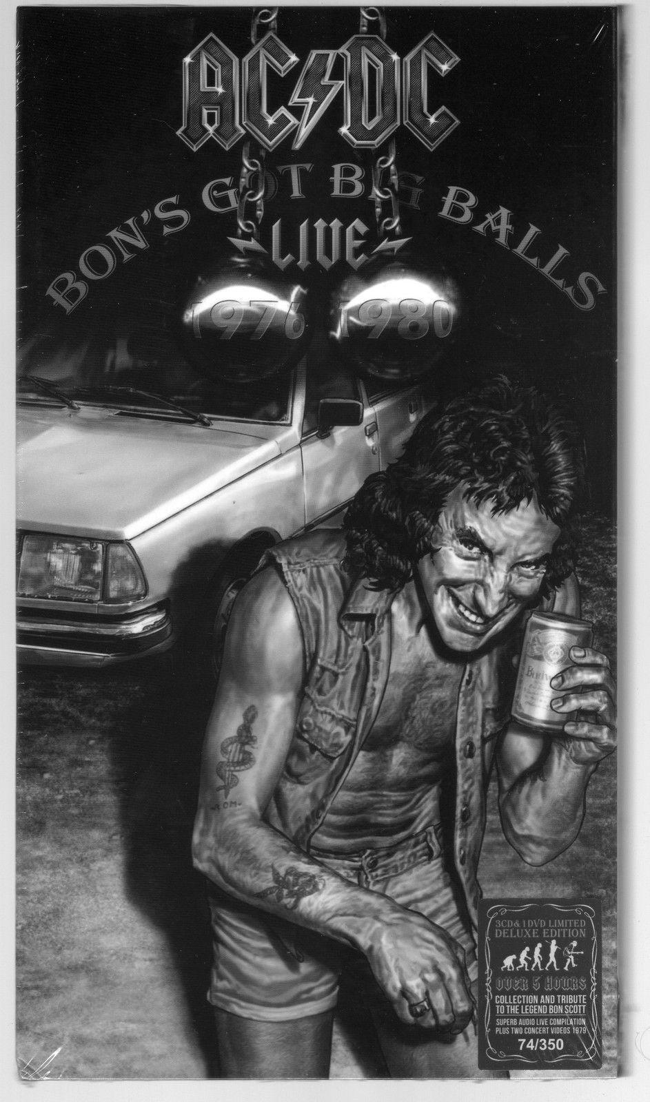 AC / DC Bon's Got Big Balls Live -- 3 CD & DVD Box Set