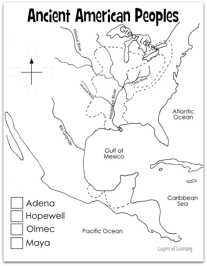 This printable conquistador map shows a portion of the western ...