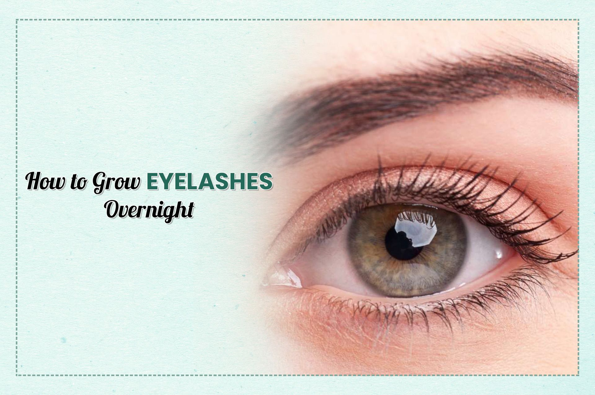How to Grow Eyelashes Overnight? The dynamic fixing in