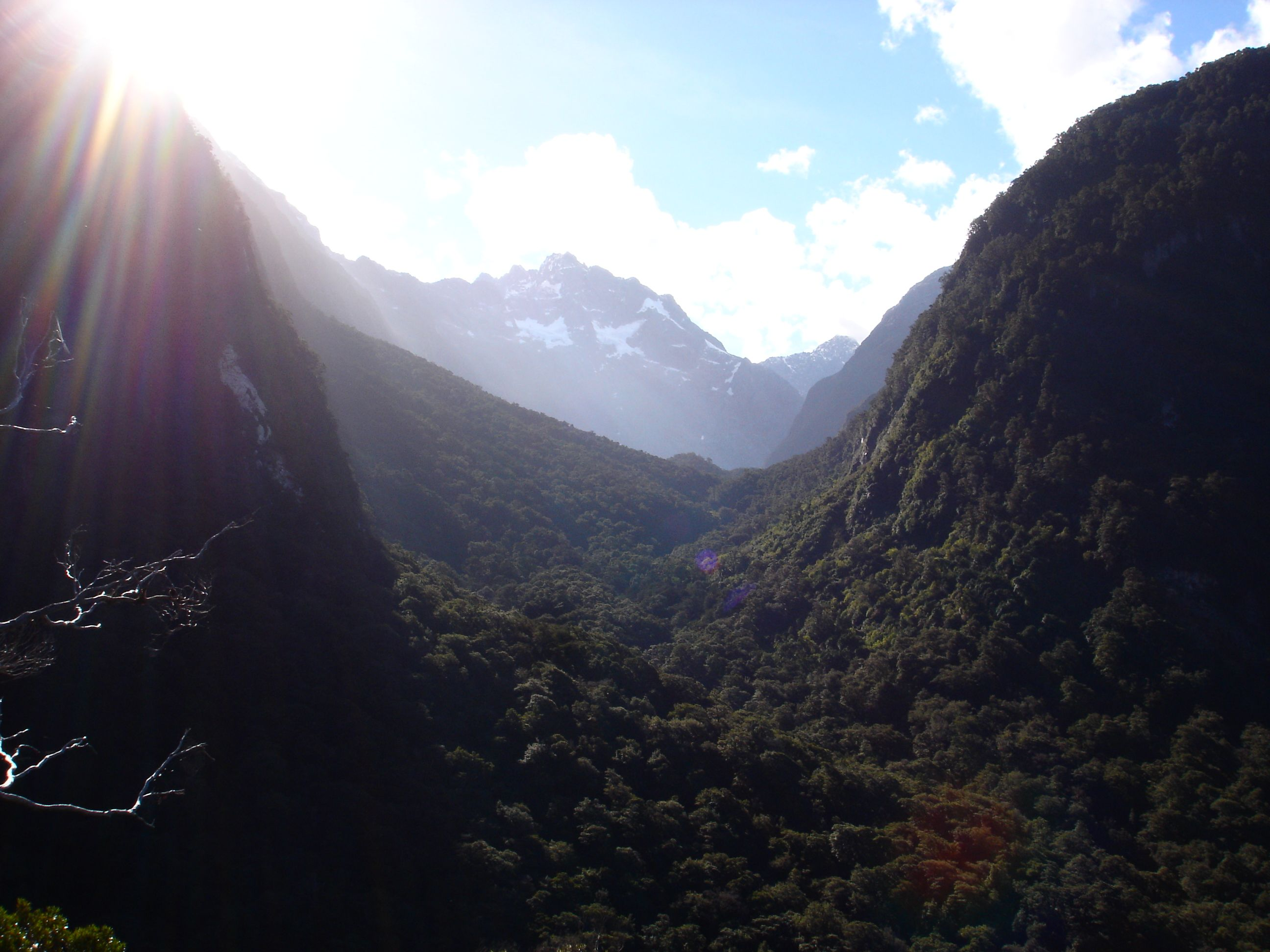Beutiful Mountains close to the Homer Tunnel on the Milford Sound Highway, New Zealand