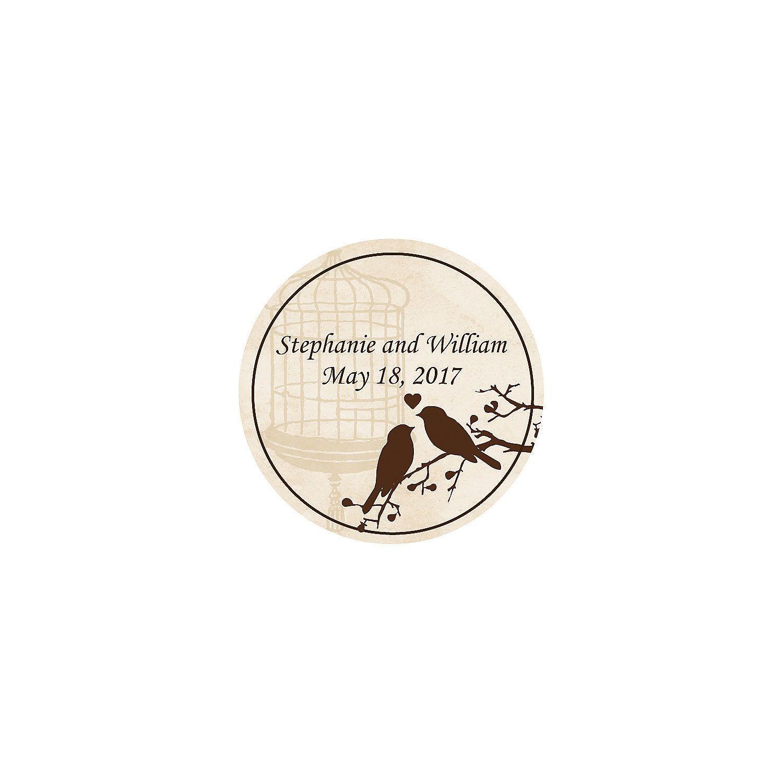 Love+Birds+Wedding+Personalized+Stickers+-+OrientalTrading.com ...