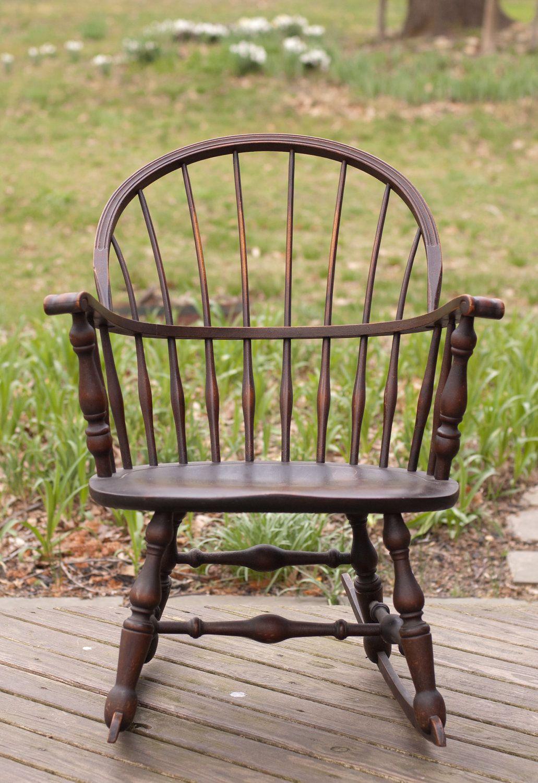 Vintage 1930 Nichols & Stone Windsor Rocking Rocker Chair. $120.00, via Etsy.