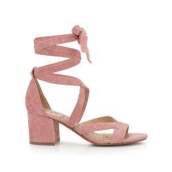 d0e1db197a8c Sheri Ankle Wrap Block Heel by Sam Edelman - Pink