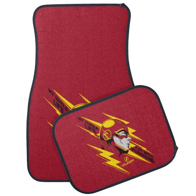 The Flash  My Whole Life I've Been Running Car Floor Mat #Sponsored , #AFFILIATE, #Running, #Car, #Floor, #Shop, #Flash