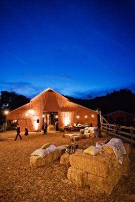 outside is your dance floor  La Fleur Weddings & Events: Shabby Chic At The Ojai Valley Inn Barn