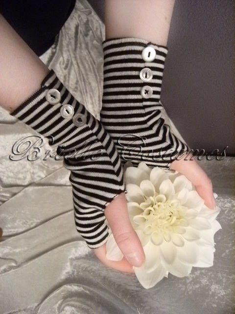Alice in Wonderland Inspired Striped Gloves Tim by briellecostumes ...