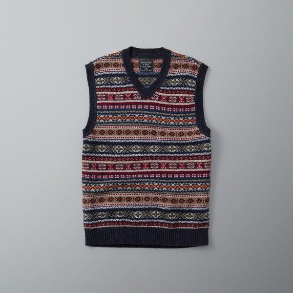 Abercrombie & Fitch Wool-Blend Fair Isle Sweater Vest ($78 ...