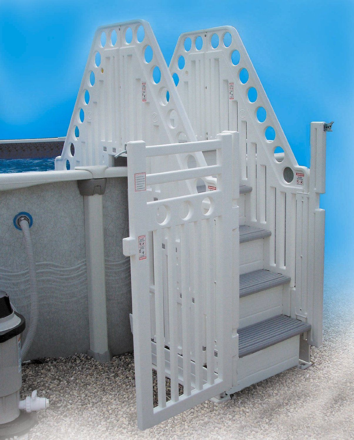 Amazon.com: Confer Double Staircase Above Ground Pool Steps: Toys U0026 Games