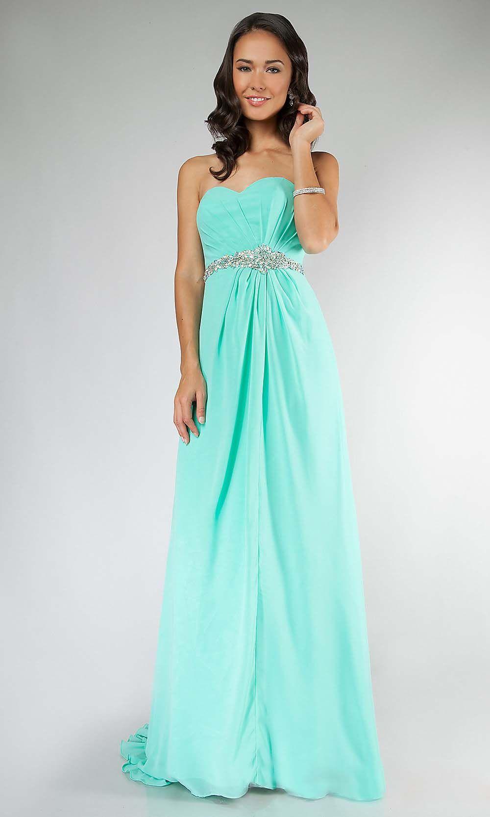 mint prom dresses, long prom dress, simple prom dresses, mint bridesmaid  dresses, · Promfeest Jurk LangPromtoga'sFormele Jurken AvondjurkenOutfitsDansen