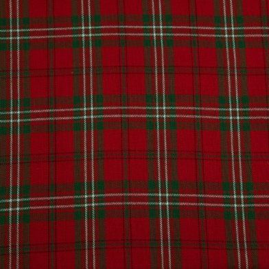 pure cotton red green edward tartan check curtain fabric material 150 cm wide from homescapes. Black Bedroom Furniture Sets. Home Design Ideas