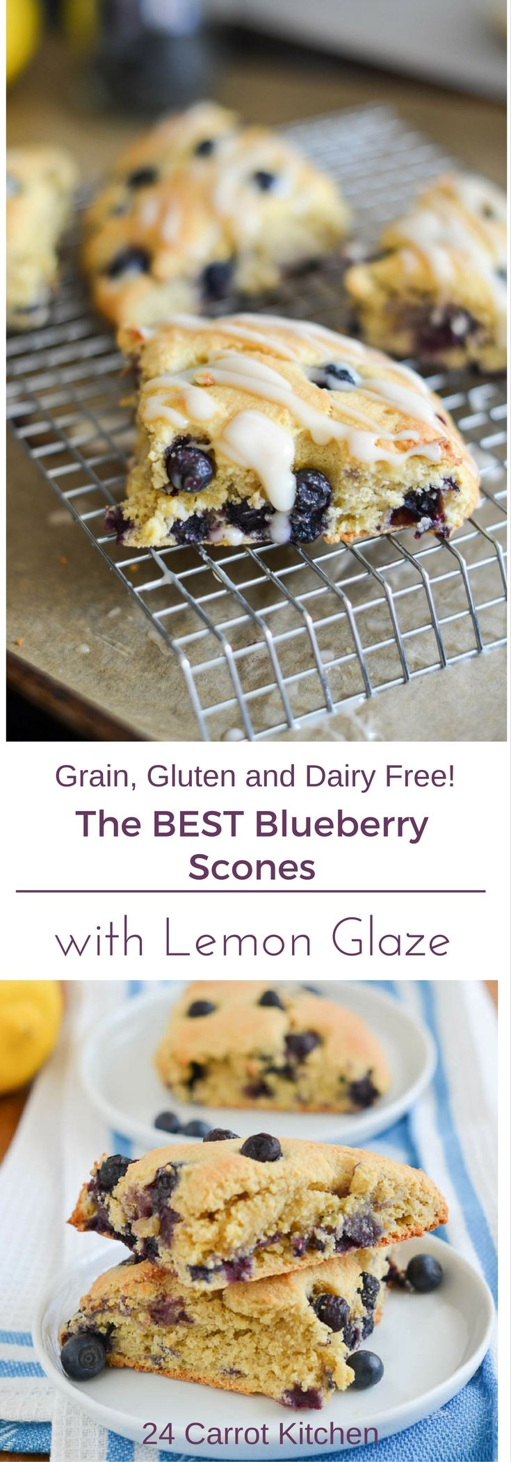 Gluten Free Blueberry Scones Pin 24 Carrot Kitchen