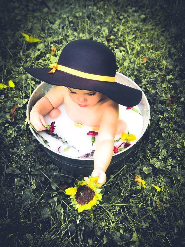 Fall milk bath with sunflowers #milkbath