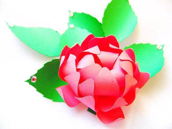 Fai da te carta fiore modelli-Cut file per Silhouette - SVG tagliati file - carta Bouquet da sposa, bouquet di fiori di carta fai da te