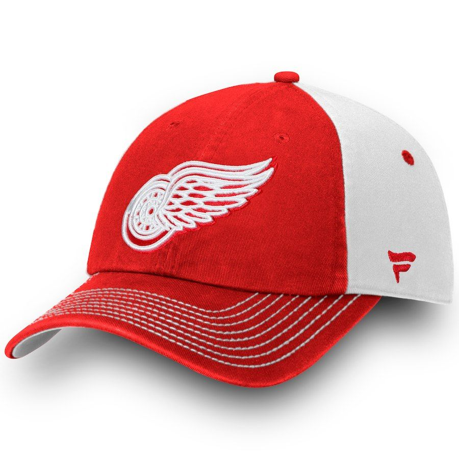 promo code fc701 0626c Men s Detroit Red Wings Fanatics Branded Red Iconic Blocked Fundamental  Adjustable Hat, Your Price   21.99