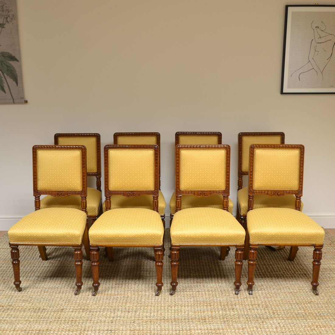 Solid Oak Antique Dining Chairs