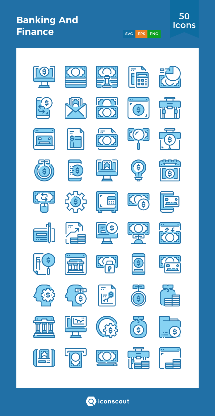Download Banking And Finance Icon pack Available in SVG