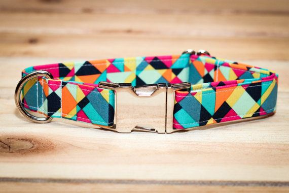 Collar Bandana Turquoise Geometric