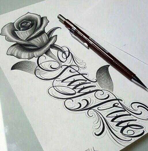Letra Tatto Tattoos I Love Chica