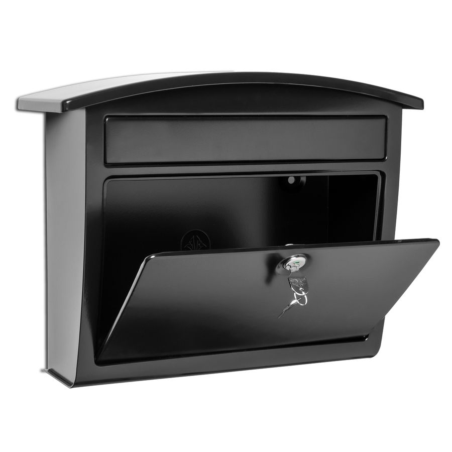 Shop Architectural Mailboxes Dal Rae 16 4 In X 13 In Metal Black Lockable Wall Mount Mailbox At Low Wall Mount Mailbox Architectural Mailboxes Lockable Mailbox