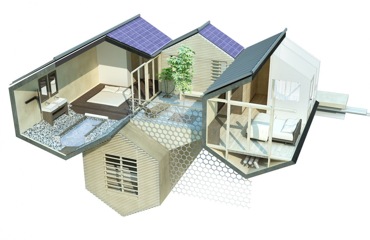 h tel spa bio modulaire de 70 chambres 2013 t design architecture architecture pinterest. Black Bedroom Furniture Sets. Home Design Ideas