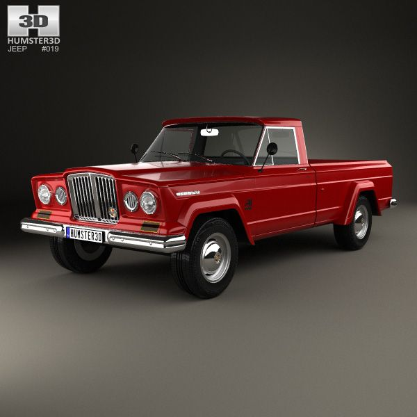 Jeep Gladiator 1962 3d Model From Humster3d Com Jeep 3d Models