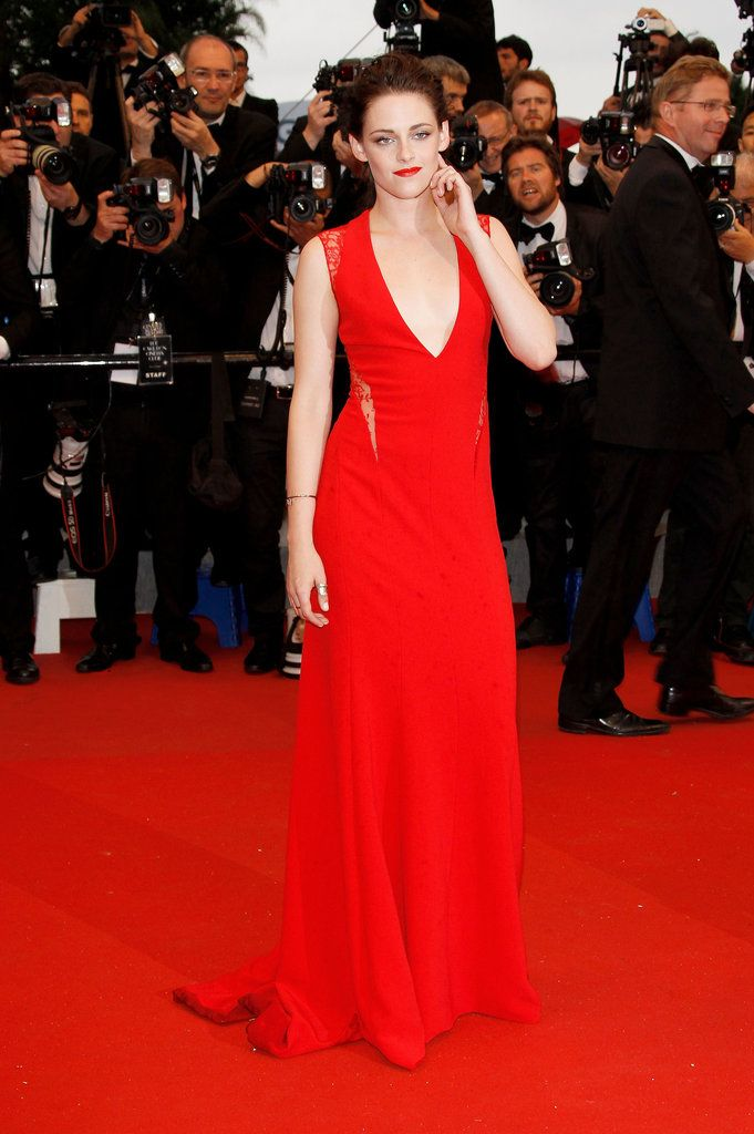 Kristen Stewart in Reem Acra at the 'Cosmopolis' Premiere during the 65th Annual Cannes Film Festival.