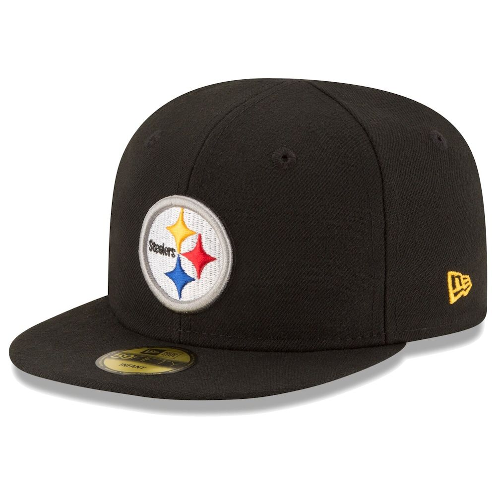 Infant new era black pittsburgh steelers my 1st 59fifty