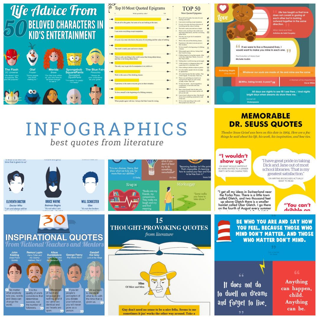 15 Infographics With The Best Quotes From Literature Literature