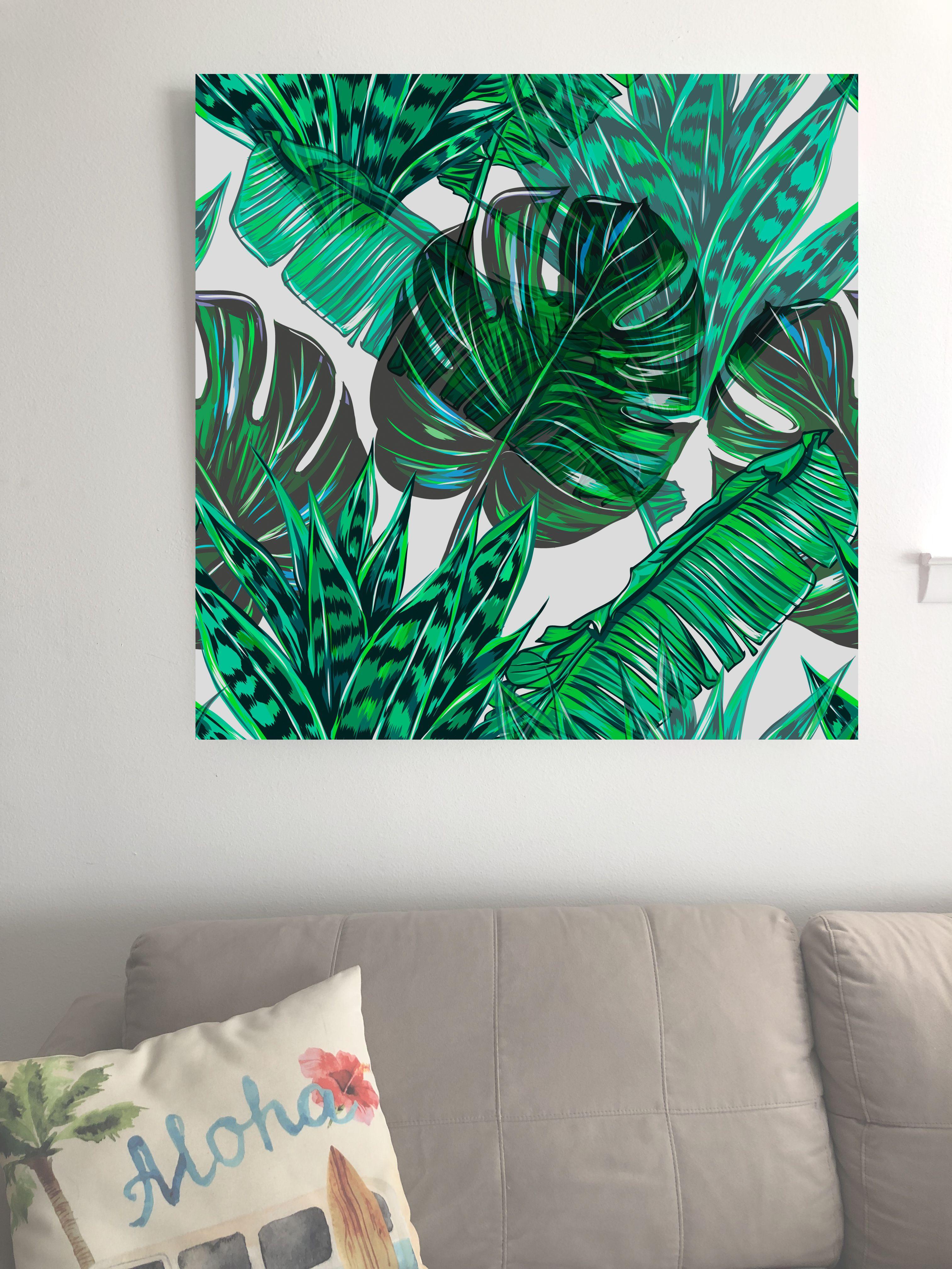 3d Monstera Palms Tropical Wall Art Tropical Wall Decor Wall