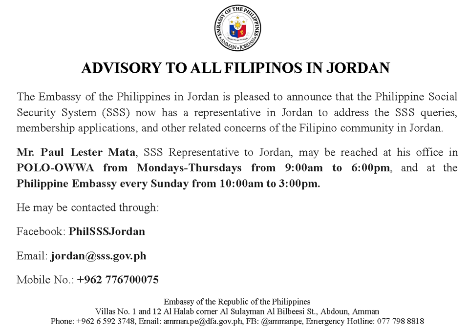 Philippine Embassy in Jordan | FIND EMBASSY | Jordans